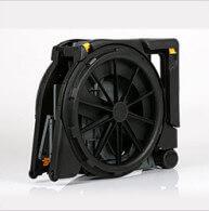 THe WHeelable Wheelchair folds easily for transportation