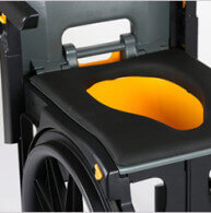 The wheelable removable pan is a great feature for travel