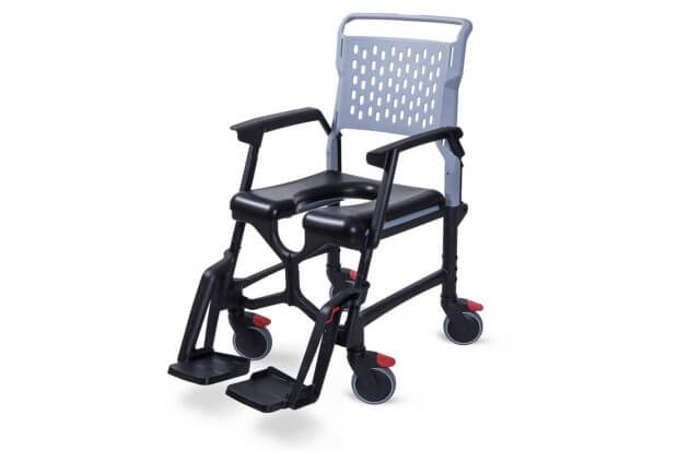 travel folding shower commode chair
