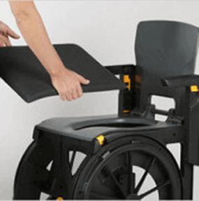 handicap accessibility - travel shower chair