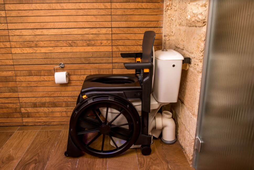 A portable toilet chair solution for inaccessible toilets